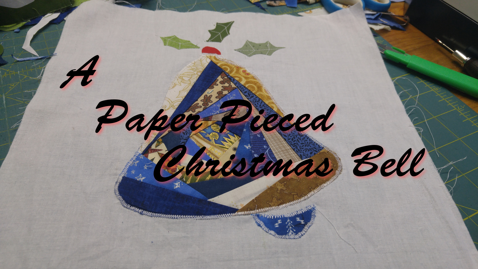 Paper Pieced Christmas Bell