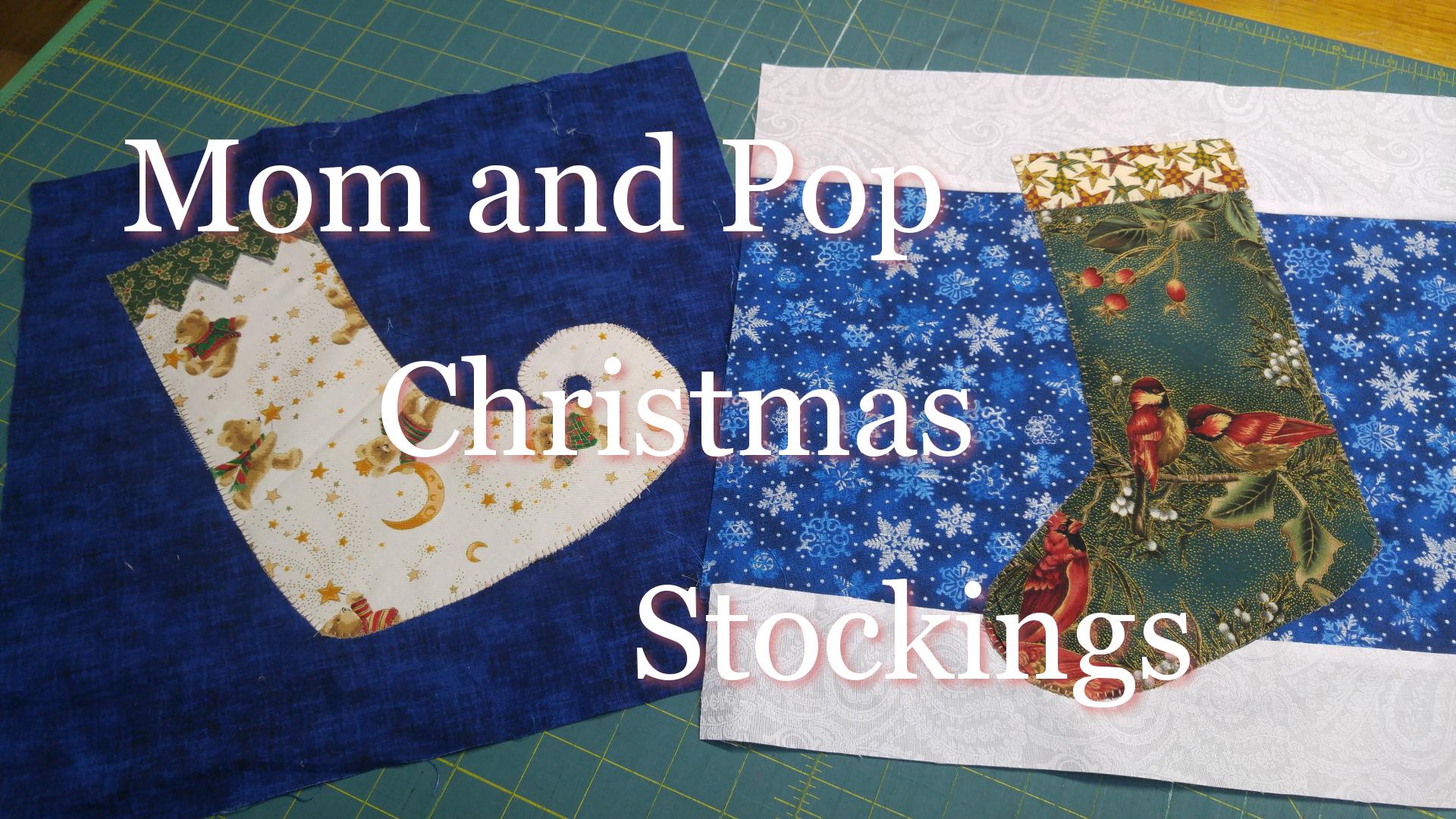 Mom and Pop Christmas Stockings