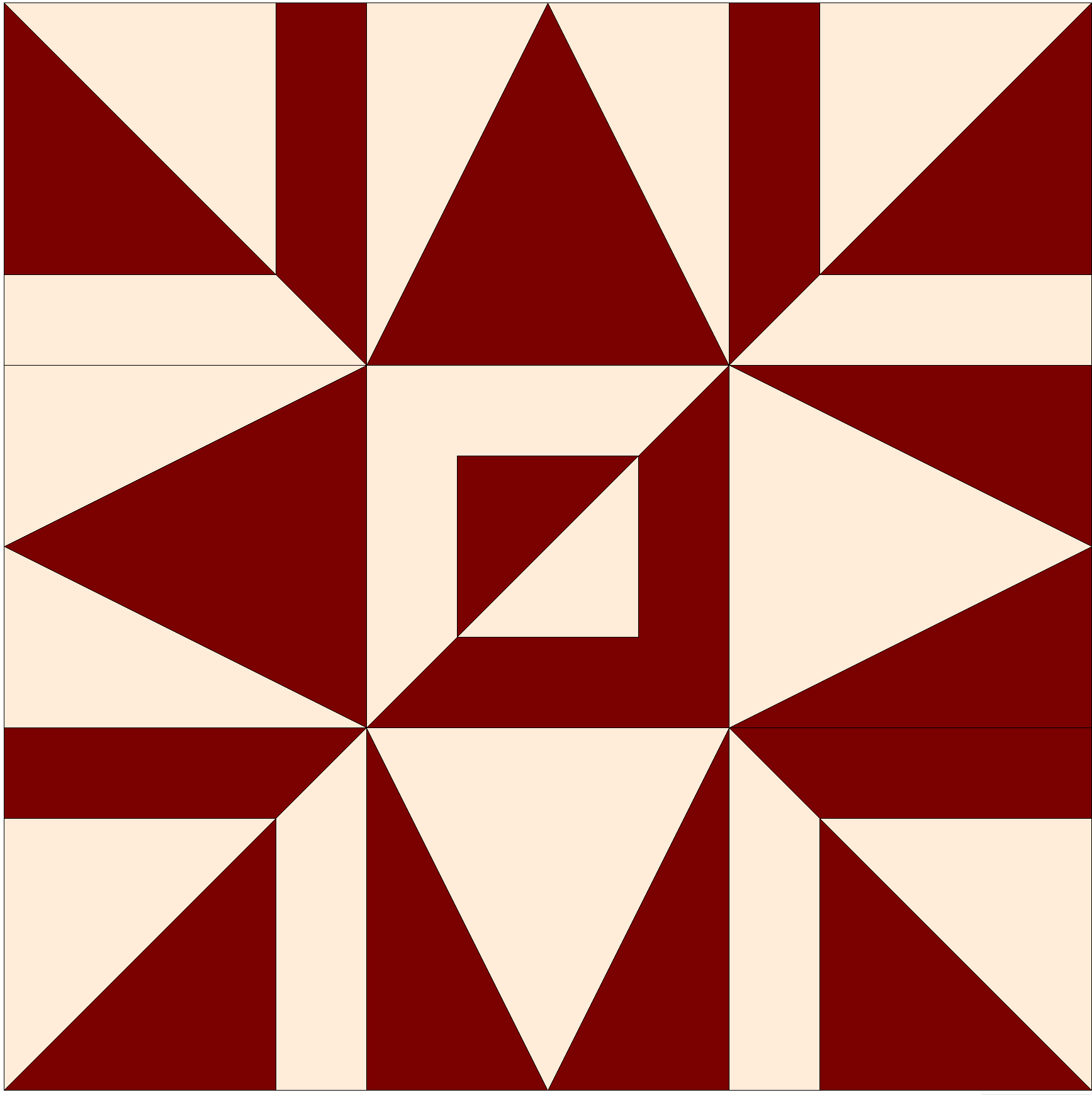 Mirror Star Block of the month